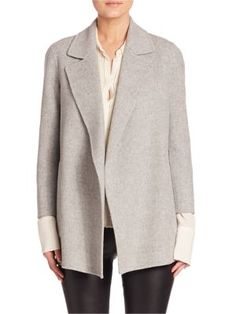 THEORY Open Front Wool & Cashmere Blend Jacket. #theory #cloth #jacket