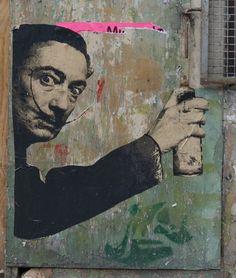 Dali. street art 000.