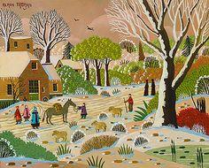 Biographie du peintre Alain THOMAS Alain Thomas, Naive Art, Paradis, Folk Art, Primitive, Artsy, Colorful, Artwork, Painting