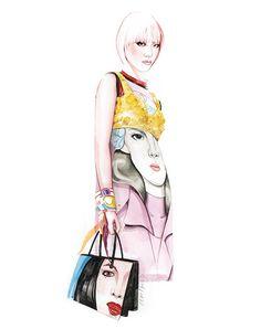 Prada fashion illustration by António Soares