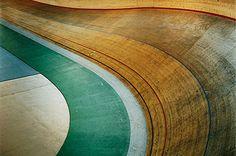 wooden bike track