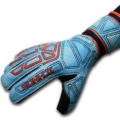 Ichnos Vertex White Sky adult size football goalkeeper gloves with pro – ICHNOS SPORTS