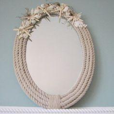 Seaside Style: DIY Nautical Rope Mirror