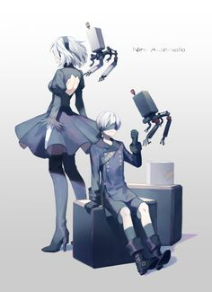 e-shuushuu kawaii and moe anime image board Video Game Art, Video Games, Nier Characters, Drakengard Nier, Neir Automata, Different Art Styles, Fanart, Comic Games, Cute Anime Pics