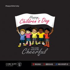Children carry the hopes for our brighter tomorrow and the dreams of our happy future. Wishing a very enjoyable day for. Creative Poster Design, Creative Posters, Happy Children's Day, Happy Kids, Children's Day Wishes, National Days, Hope For The Future, Happy Diwali, Child Day