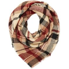 Charlotte Russe Red Plaid Blanket Scarf by Charlotte Russe at... ($15) ❤ liked on Polyvore featuring accessories, scarves, red, red blanket scarf, tartan shawl, fringed shawls, blanket scarf and plaid scarves