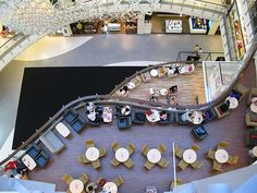 Jining Shopping Mall Recipes msn food and drink Shopping Mall Interior, Shopping Malls, Retail Interior, Mall Design, Retail Design, Restaurant Seating, Restaurant Bar, Commercial Design, Commercial Interiors