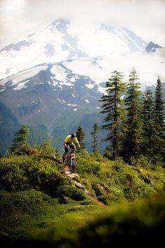 Montaña y Ciclista.