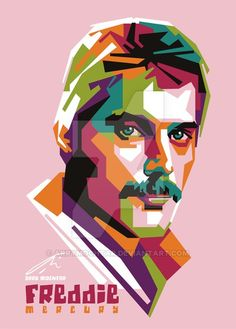 Freddie Mercury by ArryMochtar on DeviantArt Freddie Mercury, Impression Poster, Pop Rock Music, Polygon Art, Funny Caricatures, Pop Art Portraits, Queen Photos, Queen Art, Art Folder