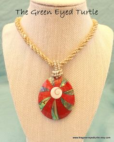 Red Coral Statement Necklace by TheGreenEyedTurtle on Etsy, $25.00