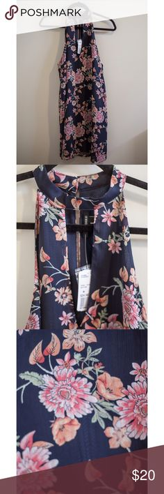 Floral Sundress Blue and pink floral sundress from forever21 never worn tags still on! Forever 21 Dresses Mini