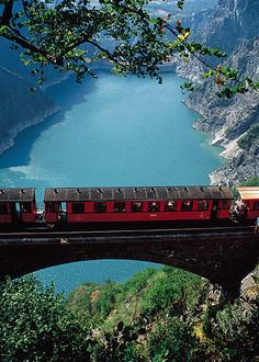 I love France! Someday I will go back. This is a picture of a train on a Mountain Railway in Grenoble, France. The scenery is beautiful. Places Around The World, Oh The Places You'll Go, Places To Travel, Places To Visit, Around The Worlds, Beautiful World, Beautiful Places, Beautiful Norway, Belle France