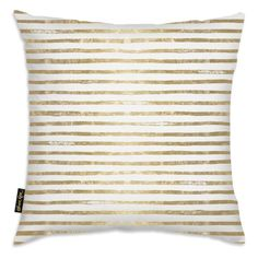 Oliver Gal 18 x 18 in. I See Stripes! Throw Pillow - 16227.PILLOW_18X18_MF