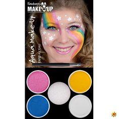 Aqua Make Up 4er Picture Pack verschiedene Designs Make Up Malkasten Löwe / Giraffe