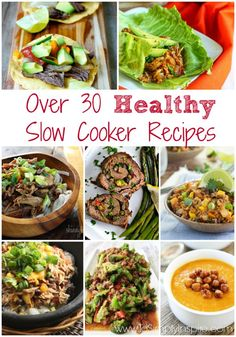 """I thought I wouldre-post this popular post from January 2014 that I have added to. It was originally day 5 of my <em class=short_underline> 30 Days of Clean Eating Challenge </em>. But with Fall approaching, I will bepulling out my slow cooker much more! Here is a list of several yummy and healthy <em class=short_underline> slow cooker </em> recipesthat are some of my favorites. I try to make them extra """"clean"""" by not using pre-packaged seasonings, ca..."""