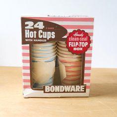 Vintage Bondware Paper Cups 1950s  Vintage Paper Cups 1956