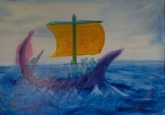 5th Grade: Painting; Ancient History and Mythology, Greece; Jason and the Golden Fleece: The Argo
