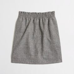 Factory pleated mini in flecked wool - Mini/A-Line - FactoryWomen's Skirts - J.Crew Factory