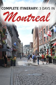 to do in Montreal for 3 Days: Suggested Itinerary and Travel Guide The best of Montreal in 3 Days!The best of Montreal in 3 Days! Montreal Travel, Of Montreal, Montreal Canada, Montreal Vacation, Oh The Places You'll Go, Cool Places To Visit, Canadian Travel, Canadian Rockies, Canada Destinations