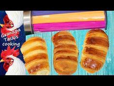 Τσουρεκάκια γεμιστά Brioche Buns filled Gefüllte Brioche-Brötchen - YouTube Hot Dog Buns, Hot Dogs, Youtube, Bread, Food, Brot, Essen, Baking, Meals