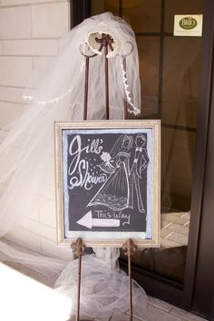 Sign directing guests to the bridal shower.