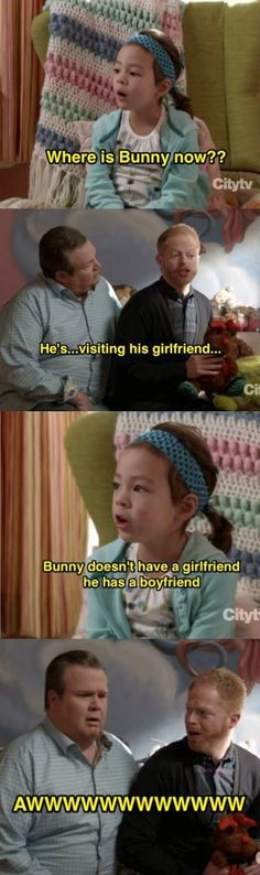 Modern family funny quote.... awe!