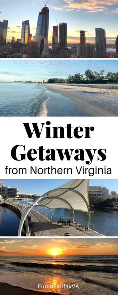 USA Travel. Winter Getaways from Northern Virginia and Washington DC by plane, train, and automobile. #Virginia #WashingtonDC #getaway