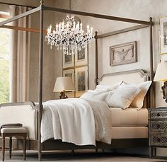 Bed frame  Restoration Hardware: Vienne French Four-Poster Bed It had to be RH headboard Bed frame
