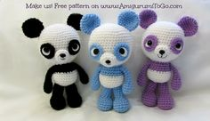 Little Bigfoot Panda has been born, yay!   This pattern has a video to go with it but due to a time crunch I did a partial video only. ...