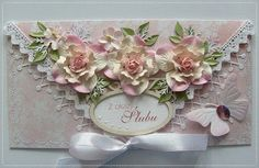 beautiful envelope with flowers added.  LOVE