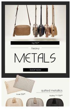 Heavy Metals SHOP NOW https://louenhide.com.au/product-tag/metallics/ Handbags, Fashion, Womens Fashion, Cosmetic Cases. Crossbody bags.