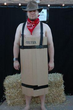 Barrel costume...I think it needs a fake six pack/wash-board.