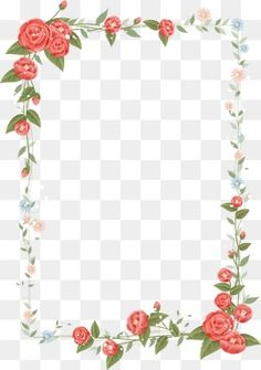 Floral border design vector