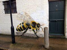 Save the Bees grafitar abelhas para alertar e lutar contra a extincao 7