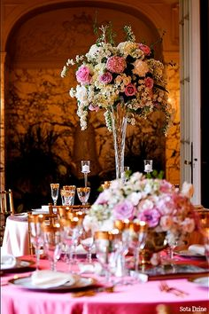 Flowers designed by Stoneblossom.com Rosecliff Mansion, Newport RI
