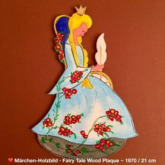 Märchen-Holzbild 💙 Fairy Tale Wood Plaque No66: DORNRÖSCHEN SLEEPING BEAUTY in Antiquitäten & Kunst, Volkskunst, Volkskunst | eBay!