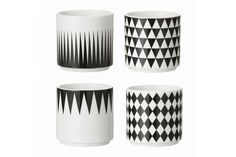 Geometry Espresso cups - set of 4