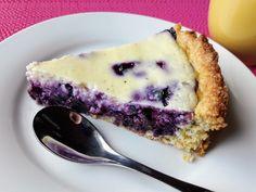Keittiö Koivikon Katveessa: Helppo mustikkarahkapiirakka Cheesecake, Baking, Sweet, Desserts, Food, Deserts, Cheese Cakes, Bakken, Dessert