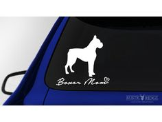 Boxer Mom, Boxer Dog Window Decal Sticker
