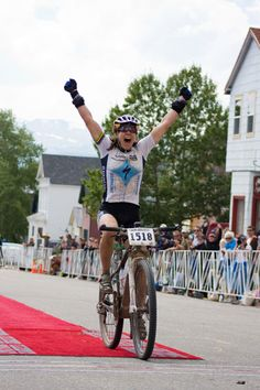 "Rebecca Rusch:  "" Known as ""The Queen of Pain,"" Rusch, 43, has showcased her world-class fitness in an astonishing range of sports, winning national or world championships in sports as diverse as adventure racing, 24-hour mountain bike racing, cross-country mountain biking, cross country skiing, orienteering and rafting."" (excerpt from Gu)."