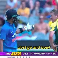 Kohli's burn was heard by the entire world thanks to the stump microphones. | Watch Virat Kohli Shutting Down James Faulkner's Sledge In The Most Epic Way