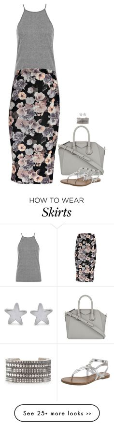 """""""Floral Pencil Skirt"""" by miki006 on Polyvore"""
