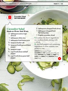 From Cooking Light | cucumber salad