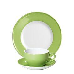 #Dibbern Solid Color Maigrün - Frühstücksgedeck