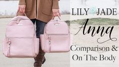 8c4223bad8e5a NEW Lily Jade Anna Lifestyle Backpacks | Comparison & On The Body! Diaper  Bag ...