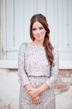 Gorgeous Sequin Champagne Dress  http://pinterest.com/blessedmommyd/curvy-girls-springsummer-closet/pins/
