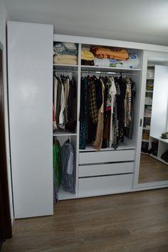 Mobila Moderna Compartimentare Dressing din Pal Alb Titan cu ABS 2 mm Decor, Dinning, Dressing, Home Decor, Closet
