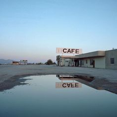 Cafe stop on a deserted highway.