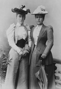 Helena, Princess Christian of Schleswig-Holstein (right), with her daughter, Princess Helena Victoria