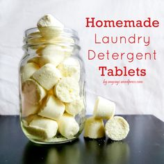 DIY laundry tablets